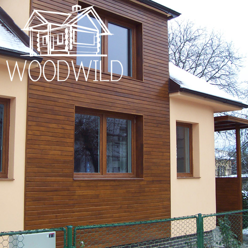 The wooden facade boards of Acacia