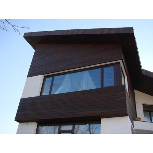 The wooden facade boards of Thermospeed