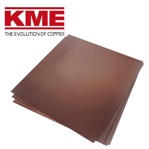 Oxidized copper roofing sheet KME