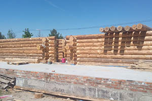 Stages of construction of wooden houses