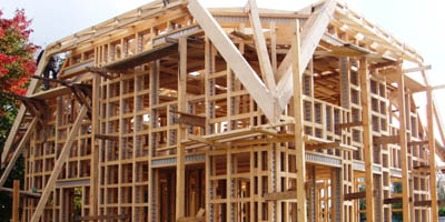 frame house construction, technology build a frame house